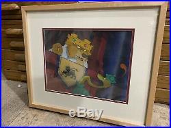 Walt Disney ROBIN HOOD Prince John Celluloid Animation Production Cel Framed