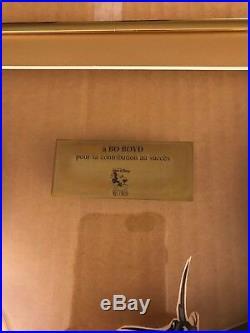 Walt Disney Records POCAHONTAS GOLD + PLATINUM CD Framed Display