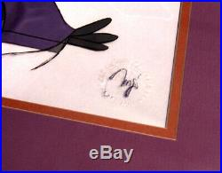 Walt Disney Robin Hood Animation Artwork Production Cel Nutsy Matted Framed Rare
