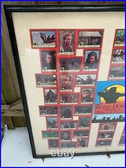 Walt Disney Robin Hood Prince Of Thieves 1991 Framed Trading Card Set Complete
