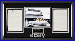 Walt Disney Signed 1956 Stock Donation Agreement Framed 27x49 JSA