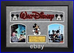 Walt Disney Signed Autographed Personal Check Custom Framed PSA