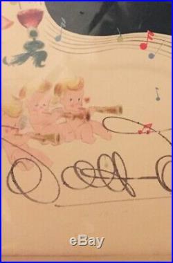 Walt Disney Signed Original 1940 Fantasia Program Book In Beautiful Frame! Look