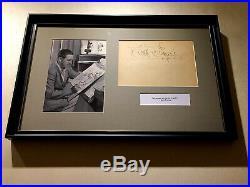Walt Disney Signed Paper, Nice Autograph In Beautiful Framed Presentation! Look