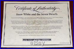 Walt Disney Snow White And The Seven Dwarfs Doc Framed Limited Edition Sericel