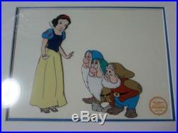 Walt Disney Snow White And The Seven Dwarfs Framed Cel Painting