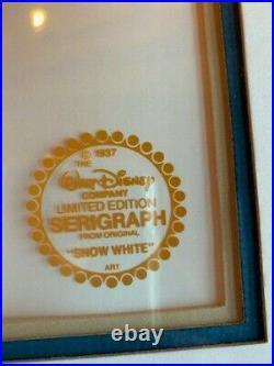 Walt Disney Snow White Limited Edition Serigraph Cel Framed COA