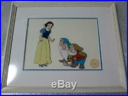 Walt Disney Snow White and the Seven Dwarfs Cell Drawing Picture frame