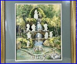Walt Disney Snow Whites A Day In The Grotto Limited Edition Framed Pin Set COA