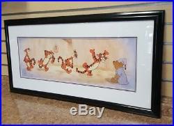 Walt Disney Studio Bouncy Trouncy Tigger Limited Edition Framed Sericel Winnie