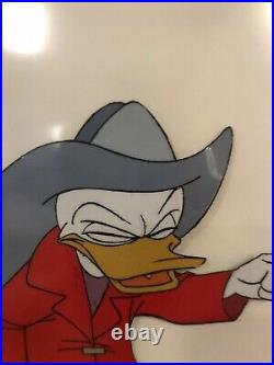Walt Disney Studio Donald Duck Fireman 1960s Framed TV Animation Cel