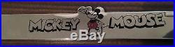 Walt Disney Studios Exclusive Mickey Chrome License Plate Frame Holder New