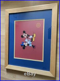 Walt Disney Studios Mickeys Surprise Party sericel Matted Frame withCOA