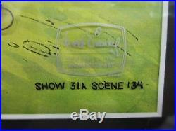Walt Disney Television Piglet Original Production Cel Signed John Fiedler Framed