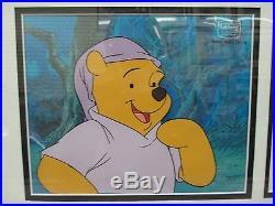 Walt Disney Television Winnie the Pooh Original Production Cel & Drawing Framed