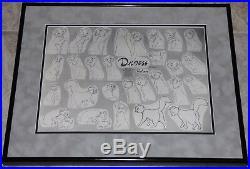 Walt Disney The Aristocats Duchess Framed Original Production Model Sheet 1970