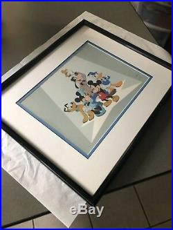 Walt Disney The Fab Five Sericel Framed/ Mickey Mouse Classic