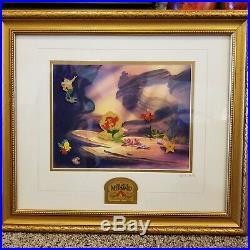 Walt Disney The Little Mermaid 10th Anniversary Pin Set Framed Numbered 100/1989