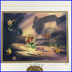 Walt Disney The Little Mermaid 10th Anniversary Pin Set Framed Numbered 569/1989
