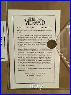 Walt Disney The Little Mermaid Story Time With Ariel Framed Le Sericel Flounder