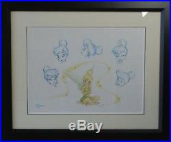 Walt Disney The Many Expressions Of Tink Lithograph, Ltd. Ed. 1000, Coa