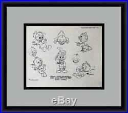 Walt Disney West Point Original Model Sheet Drawing 1971 CUSTOM FRAMED FREE SHIP