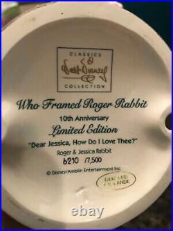 Walt Disney Who framed Roger Rabbit Dear Jessica How Do I Love Thee new in box