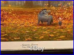 Walt Disney Winnie The Pooh Autumn Leaves Framed Print 28x 20 Peter Ellenshaw