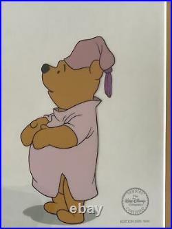 Walt Disney Winnie The Pooh & Tigger Sericel Framed Cel Bouncing Back To Bed