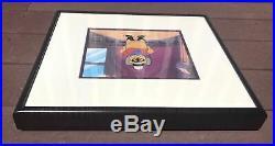 Walt Disney Winnie the Pooh Paw and Order Original Production Cel Framed w COA