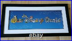 Walt Disney World 15 Pin Set Letters with Character limited Editio Framed 2010
