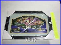 Walt Disney World 1971 Framed Pin Set Garret Webb Artist Open Edition