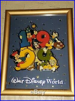Walt Disney World 1999 Mickey And Friends Framed Giant Pin Picture