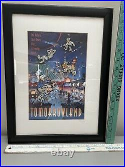 Walt Disney World 2000 Tomorrowland Framed Pin Set LE #261/1500 Mickey Goofy