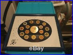 Walt Disney World 20th Anniversary Complete Framed 15 Pin Set Ultra Rare HTF