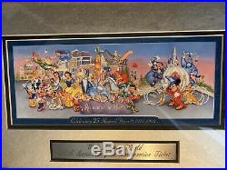 Walt Disney World 25th Anniversary Commemorative Ticket Framed