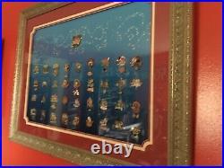 Walt Disney World 35 Magical Milestones Framed Pin Set 20908