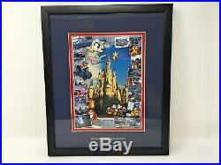 Walt Disney World 35 Years of Making Dreams Come True Framed Pin Set Anniversary