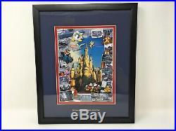 Walt Disney World 35 Years of Making Dreams Come True Framed Pin Set Anniversary