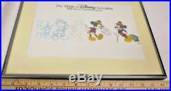 Walt Disney World Art of Animation Cel Traveling Mickey Professionally Framed