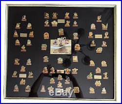 Walt Disney World Coca-Cola 15th Anniversary Framed Pin Set