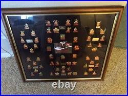 Walt Disney World Coca-Cola 15th Anniversary Framed Pin Set. All 60 Pins