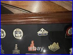 Walt Disney World Company D 25th cast Limited Commemorative framed pin set 1996