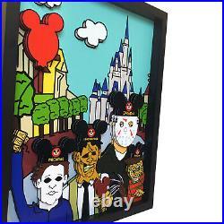 Walt Disney World Disneyland Horror Decor 3D Art Jason Voorhees Freddy Krueger