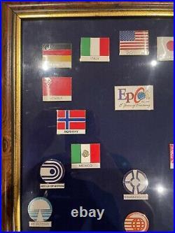 Walt Disney World EPCOT 1982-1997 15 years limited edition framed pin set 1996