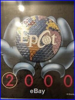 Walt Disney World EPCOT giant Framed Pin, 1 Of 700 Celebrate The Future