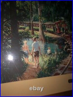 Walt Disney World Frame Art Cast Exclusive Resort Prop