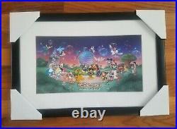 Walt Disney World Framed 2000 LE Framed Pin Set 223/1500 with Original Box