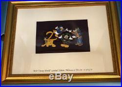 Walt Disney World Framed Millennium 2000 Limited Edition Pin Set 113/1500 Nib
