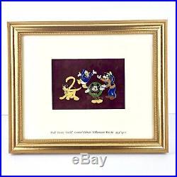 Walt Disney World Framed Millennium 2000 Limited Edition Pin Set Folder Card